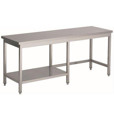 Combisteel Gelaste Werktafel RVS + 1/2 Bodemschap | HEAVY DUTY | 1000(b)x700(d)mm | KEUZE UIT 20 BREEDTES