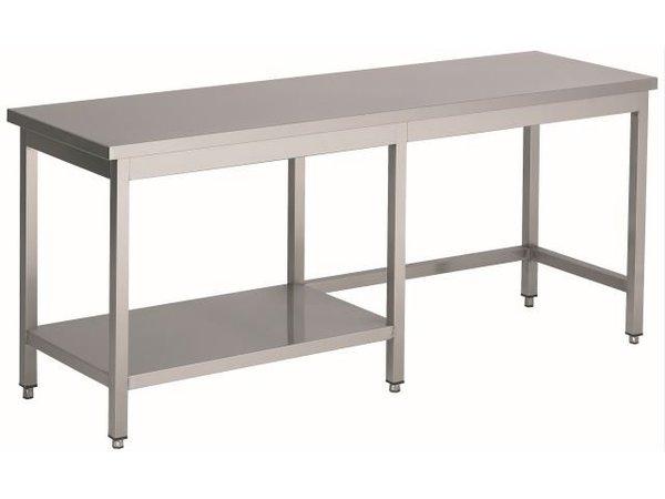 Combisteel Verschweißte Edelstahl-Werkbank + 1/2 Bottom Shelf | HEAVY DUTY | 1000 (b) x700 (d) mm | AUSWAHL 20 WIDTHS