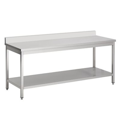 Combisteel Abnehmbarer Edelstahl-Werkbank + Bottom Shelf + Splash-Rand   800 (b) x600 (d) mm   Auswahl von 7 WIDTHS