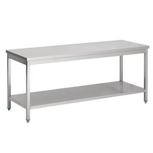 XXLselect Removable stainless steel Workbench + Bottom Shelf | BUDGET | 800 (b) x600 (d) mm | CHOICE OF 7 WIDTHS