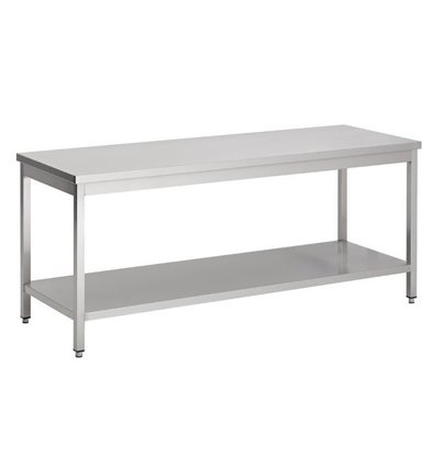 Combisteel Removable stainless steel Workbench + Bottom Shelf | BUDGET | 800 (b) x600 (d) mm | CHOICE OF 7 WIDTHS