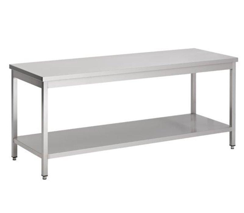 Combisteel Demontabele Werktafel RVS + Bodemschap | BUDGET| 800(b)x600(d)mm | KEUZE UIT 7 BREEDTES