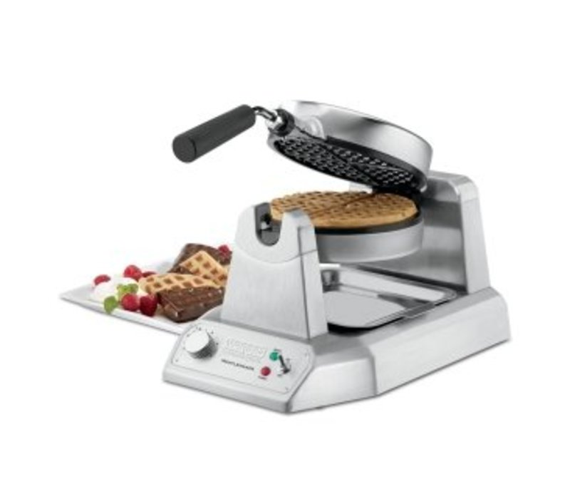 XXLselect Some Waffle Maker Waring - Round Model - Anti Glueboards - 260x508x (H) 235mm - 1200W