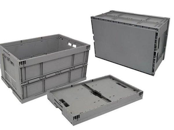 XXLselect Euronorm Plooibak Industrie 600x400x320 mm - mit Deckel
