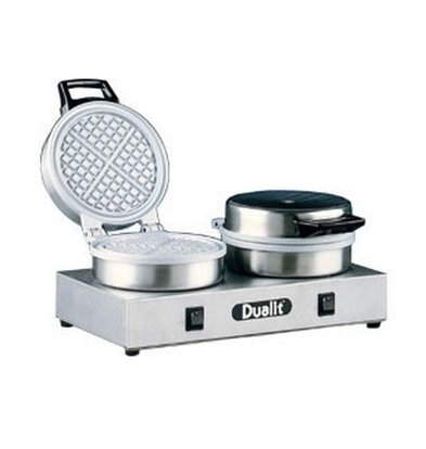 Dualit Wafelapparaat Dubbel - Rond Model - 400x220x(h)190mm - 1600W