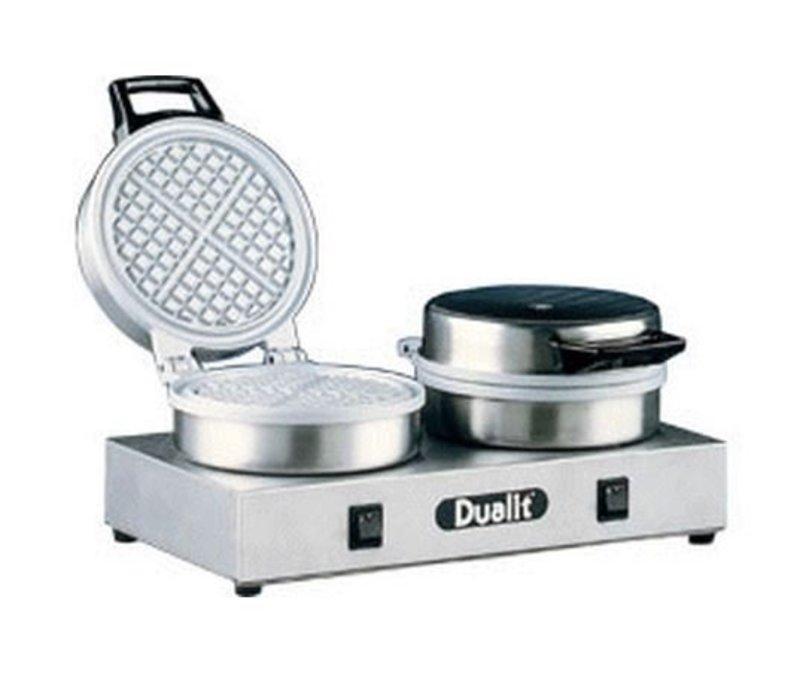 XXLselect Waffle Machine Double - Round Model - 400x220x (h) 190mm - 1600W