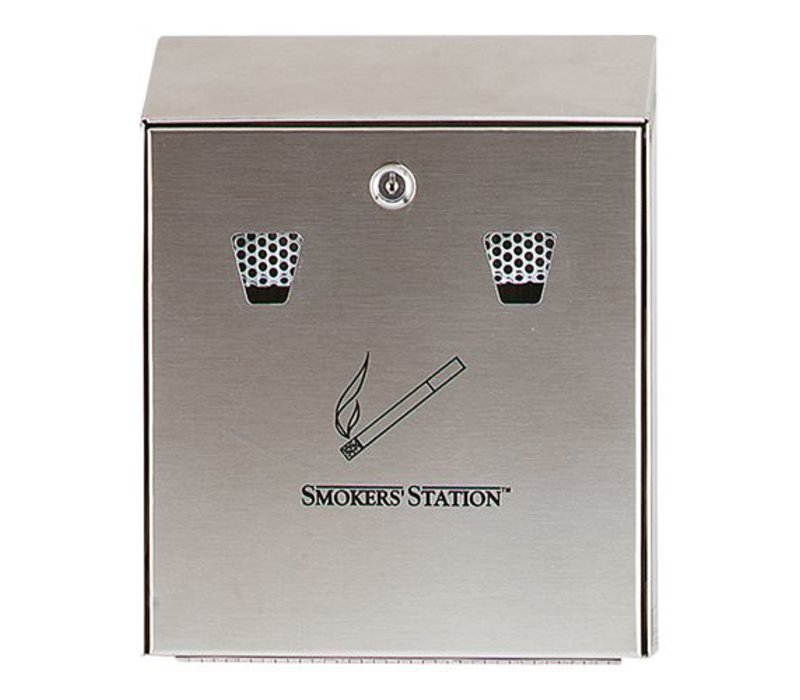 XXLselect Wall ashtray Stainless steel | Easy to Legen | 250x80x (h) 320mm
