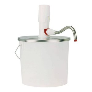 XXLselect Bucket Dispenser ABS - 10 Liter - Plastic - Stainless steel lid - 26,5cm