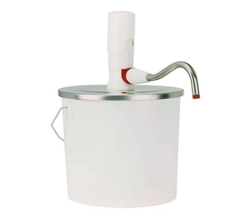 XXLselect Bucket Dispenser ABS - 10 Liter - Kunststoff - Edelstahldeckel - 26,5cm