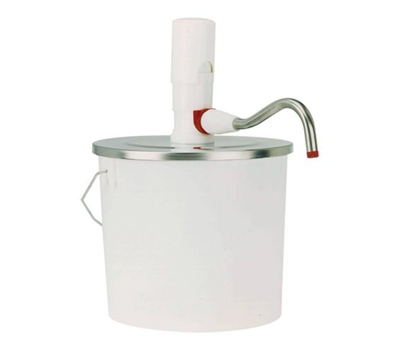 XXLselect Emmer Dispenser ABS - 10 Liter - Kunststof - RVS Deksel - 26,5cm