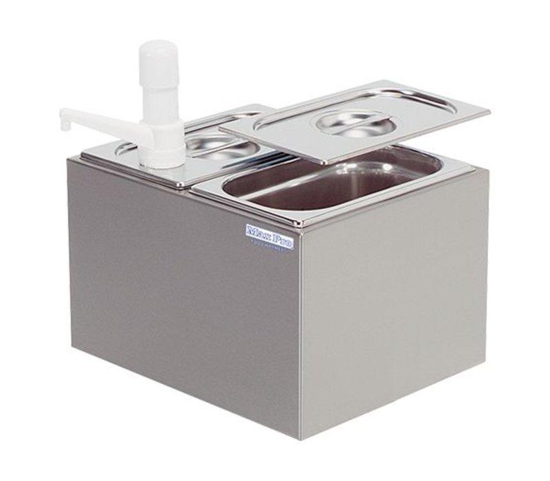 XXLselect Sauce Dispenser Max Pro - 3x - Plastic - 1/4 GN