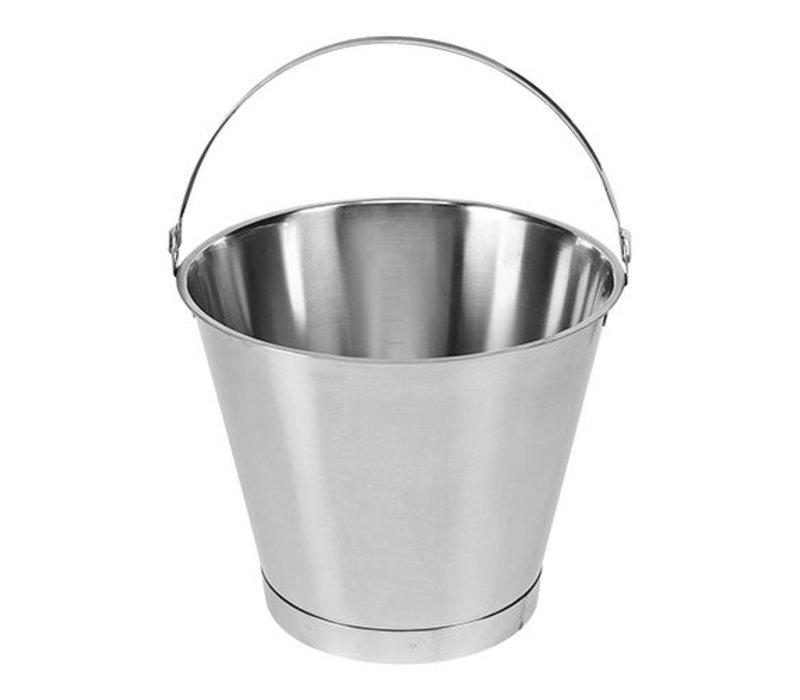 XXLselect Bucket RVS 15 Liter - Größenverteilung