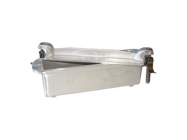 XXLselect Pate Vorm | Gegoten Aluminium | Vierkant | 7,5x24x5,5cm