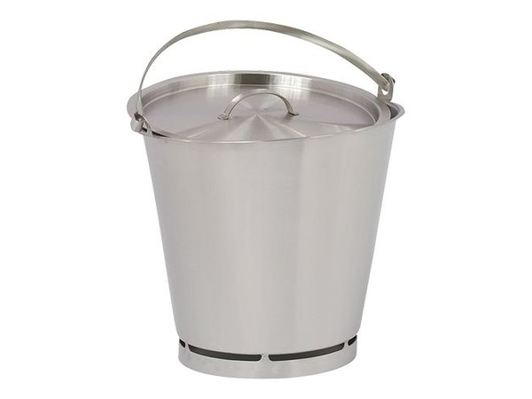 XXLselect Deksel voor Emmer RVS 10 Liter PRO