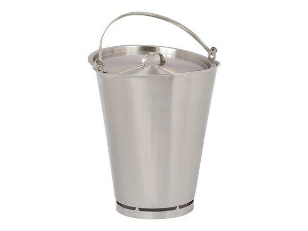 XXLselect Bucket RVS 15 Liter - Größe fl Ling PRO