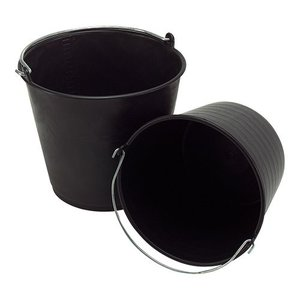 XXLselect Bucket Black Kunststofcentrum 12 Liter - Size Distribution