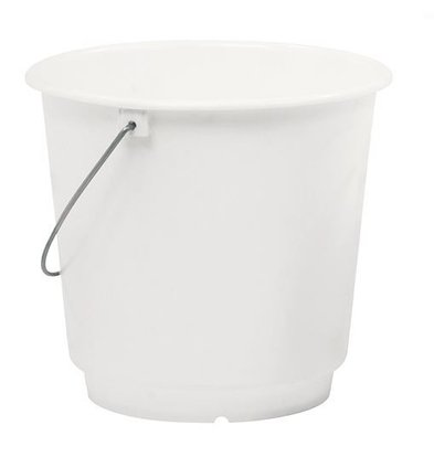 XXLselect Bucket White Kunststofcentrum 10 Liter - Size Distribution