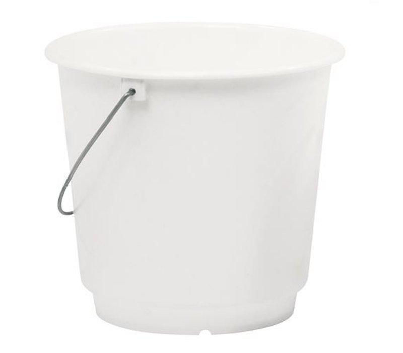 XXLselect Emmer Wit Kunsstof 12 Liter - Maatverdeling