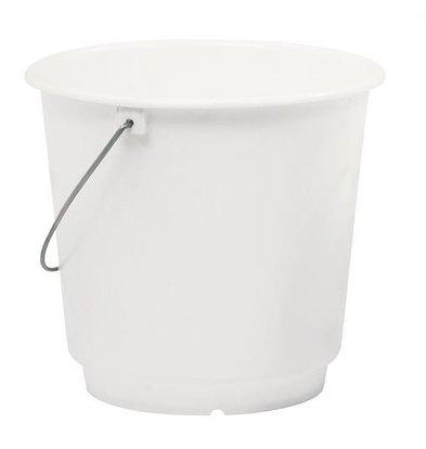 XXLselect Emmer Wit Kunsstof 15 Liter - Maatverdeling