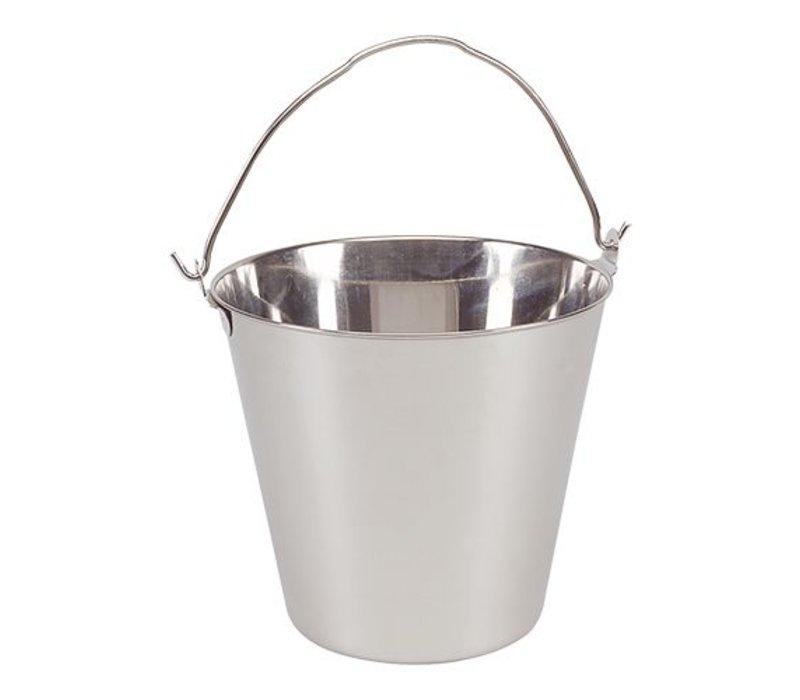 XXLselect Stainless steel bucket 7 Liter