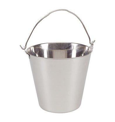 XXLselect Stainless steel bucket 14 Litre