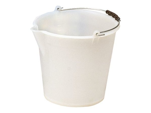 XXLselect Bucket White Kunststofcentrum 9 Liter - Spout