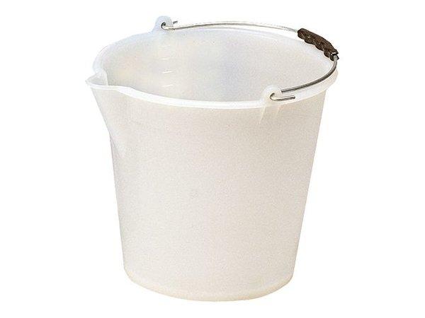 XXLselect Emmer Wit Kunsstof 9 Liter - Schenktuit