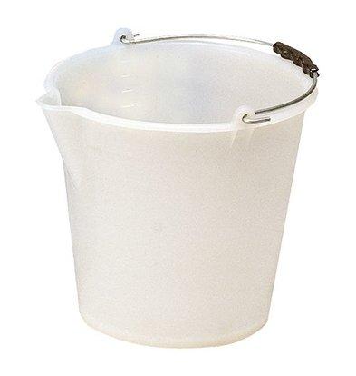 XXLselect Bucket Weiß Kunststofcentrum 12 Liter - Spout