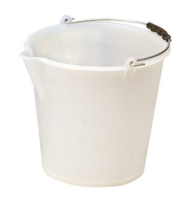 XXLselect Emmer Wit Kunsstof 12 Liter - Schenktuit