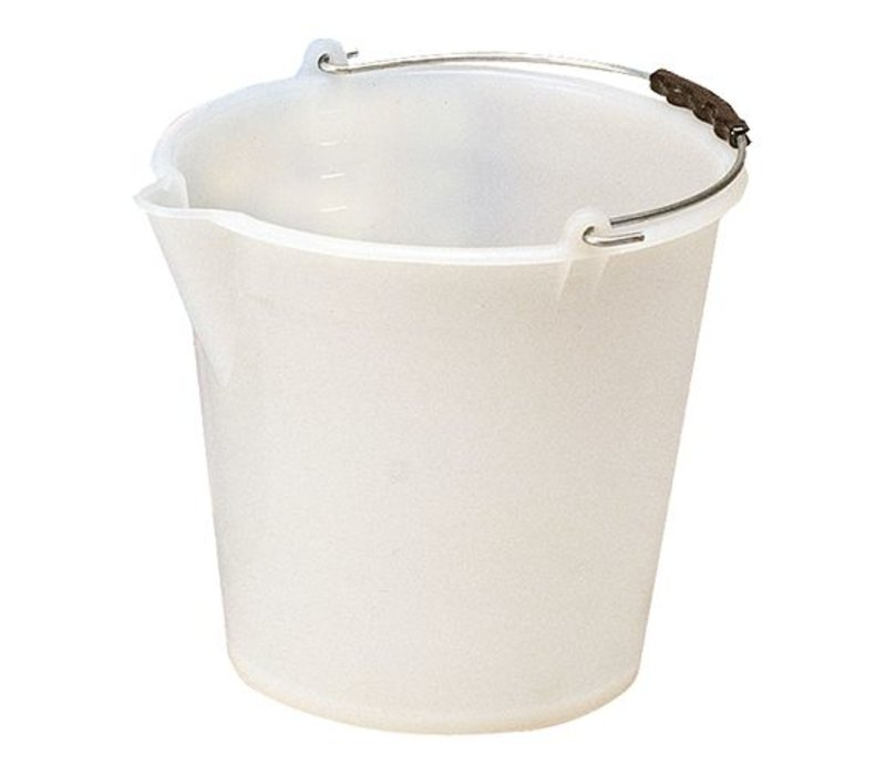 XXLselect Bucket Weiß Kunststofcentrum 12 Liter - Spout