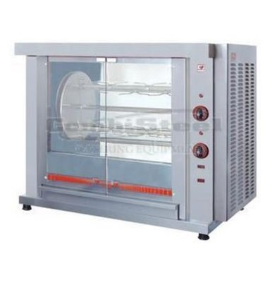 XXLselect Chicken Grill rotation - 3 Spits - 1020x640x (H) 830mm - 5.4KW - 9 Chickens