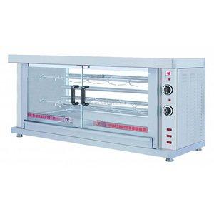 XXLselect Kippengril Electrisch - 2 Spitten -1320x460x(h)660mm - 5.2KW - 10 kippen