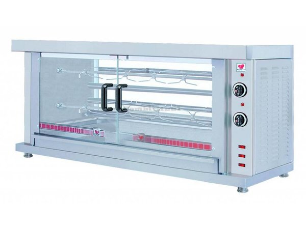 Combisteel Chicken Grill Electric - 2 Digging -1320x460x (h) 660mm - 5.2KW - 10 chickens
