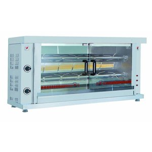 XXLselect Gas Grill chicken - 2 Digging - 1320x460x (H) 680mm - 6KW - 10 chickens