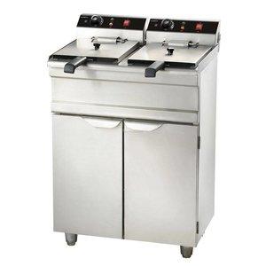 XXLselect fryer | electric | 2 x 9 liters | With Mount | 2 x 3,3KW | 695x530x (H) 970mm