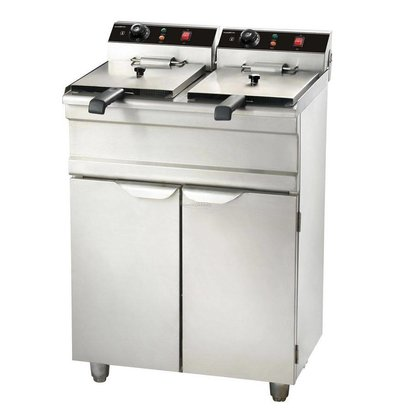 XXLselect fryer | electric | 2 x 9 liters | With Mount | 2 x 3,3KW | 695x530x (H) 970mm