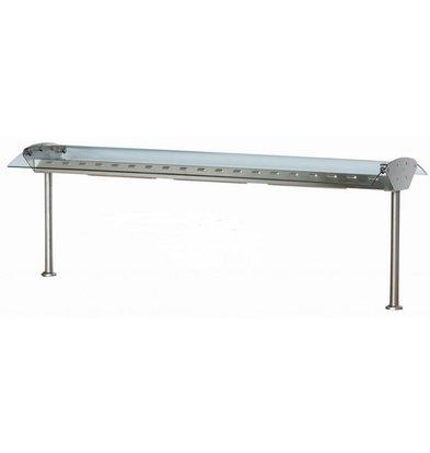 Combisteel Glasbrug met verlichting / verwarming - 4 maten