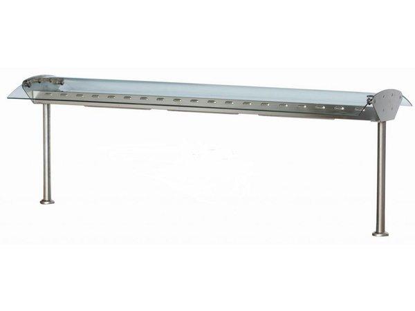 Combisteel Glasbrug met verlichting - 4 maten