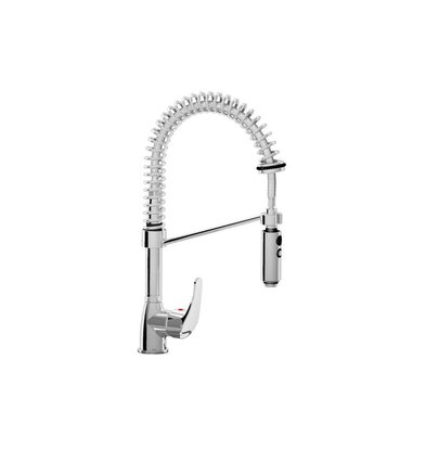 XXLselect Handdusche MINI - Chrom - Flexible Anschlüsse - Cold / Hot Tap - (H) 490 mm