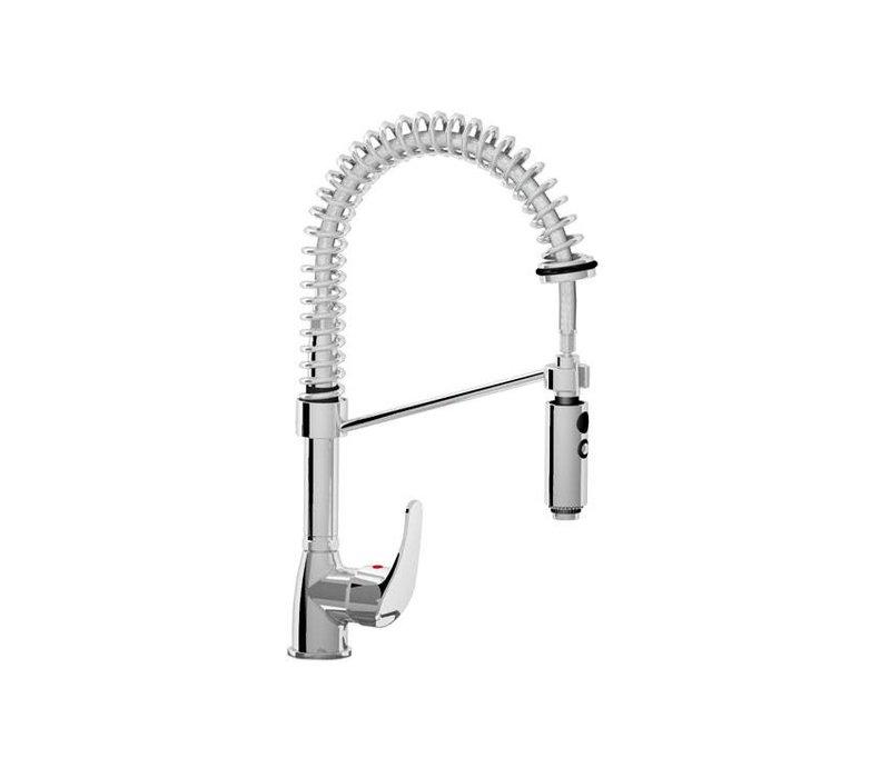 XXLselect Hand shower MINI - chrome - Flexible connectors - Cold / Hot Tap - (H) 490 mm