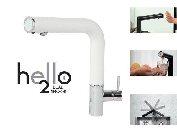 XXLselect Infraroodkraan Hello - Deluxe - 200 Dual sensor - Op batterij - 4 kleuren