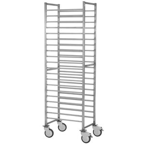 XXLselect Regaalwagen Stainless Steel Heavy Duty - 60x40cm - 10/15/20 Levels