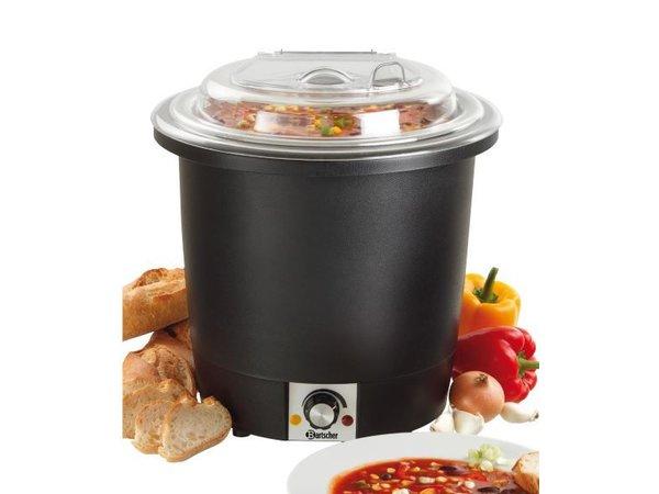 Bartscher Elektrische Kochtopf 10 Liter - Deckel Transparent