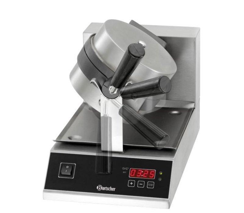 Bartscher Deluxe Waffeleisen - Round Modell und schwenkbar - mit gusseisernen Bratpfanne - 250x495x (h) 385mm - 1KW