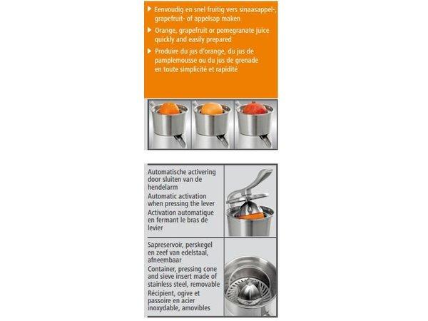 Bartscher Strom Juicer CS1 - Gussaluminium - 230W / 230V - 287x212x (H) 396mm