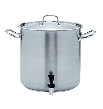 XXLselect Casserole / Stockpot stainless steel with Crane, Grid and Lid - 50 Liter - 400mm (diameter) x400mm (H) - CHOICE OF 2 DIMENSIONS