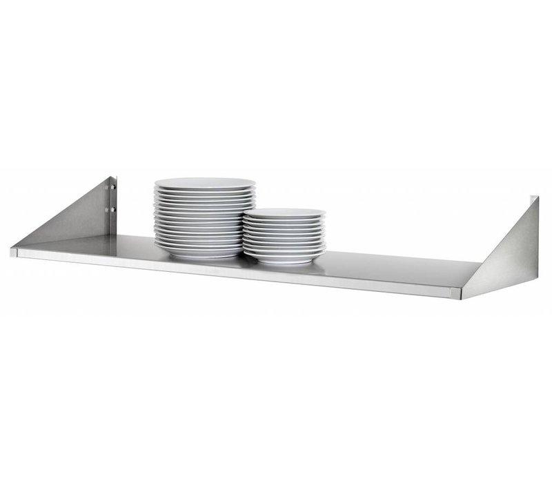 Bartscher Edelstahlplatten Regal - 200 mm Tiefe - Auswahl von 4 GRÖSSEN