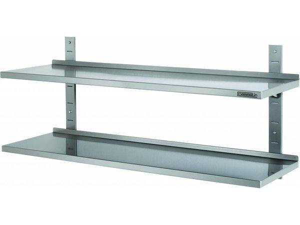 Casselin Wandschap 355mm RVS 2 planken - Complete Set - KEUZE UIT 8 MATEN
