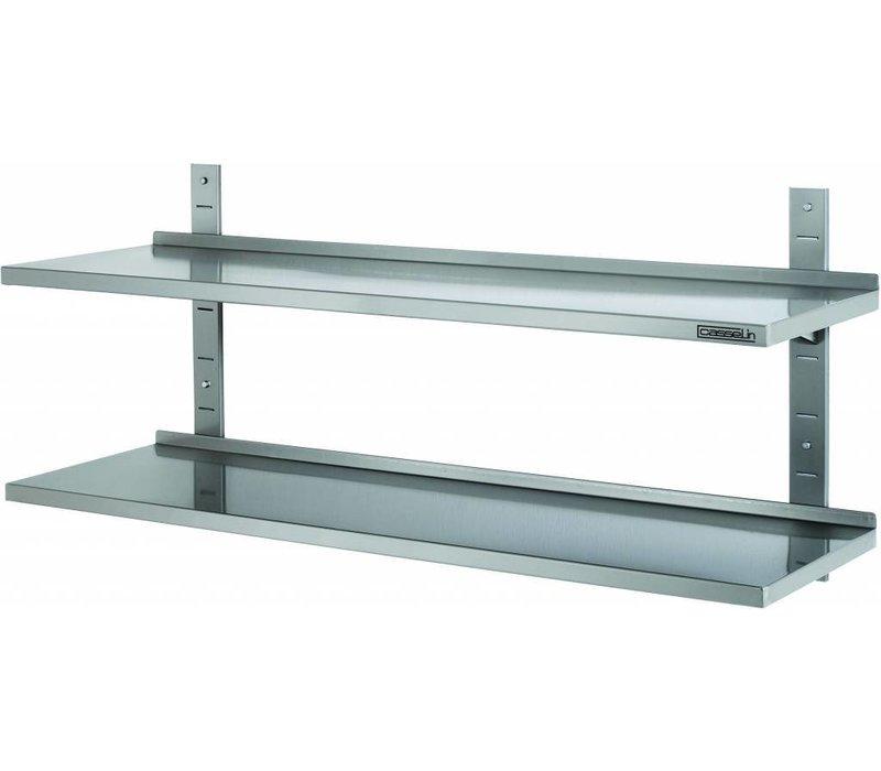 Casselin Shelf 355mm Edelstahl 2 Regale - Komplett-Set - 8 Wahl von Größen