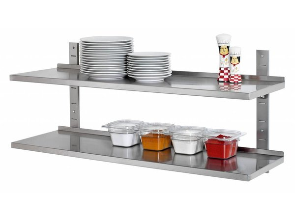 Casselin Shelf 355mm stainless steel 2 shelves - Complete Set - 8 CHOICE OF SIZES